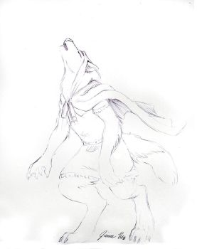 Sketch Request - Red Riding Werewolf by Jianre-M