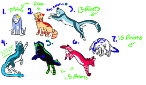 Adopts 5 points each by ShadowTehWolfie