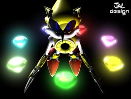 Super Metal Sonic by Josiahsal