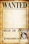 Clear One Piece Wanted Poster 300,000,000 by JoeyRex