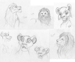 The Lion King - Sketches by MutedSilver12