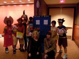 The Doctor, River, and Digimon by Texas-Guard-Chic