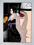 Itachi Uchiha in colour by DTR2111MANGA