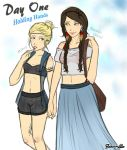 Day One: Holding hands by beauvb