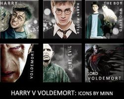 HARRY V VOLDEMORT ICON SET by VaL-DeViAnT