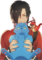 DRAMAtical Murder Render - Koujaku by WhateverheadDrop