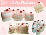 Hooray for CAKE plushies by pookat