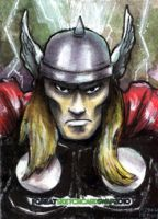 Thor Sketch Card by geralddedios