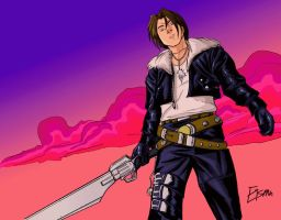 Squall Leonhart in Colour by Supajoe