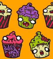 Zombiecakes Repeating Background by mustardsquirt