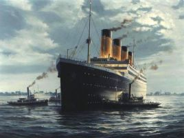 Titanic leaving by Lupa-Rome