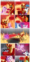 Sun Setting Misfortune MLP Comic: Stone Heart by teammagix