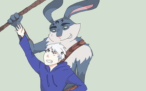 Jack Frost and Bunnymund 24 by saeru-bleuts