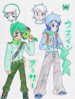 Gatling Pea and Winter Melon by Magicwaterz16