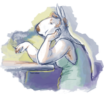 grumbles in thought by VCR-WOLFE