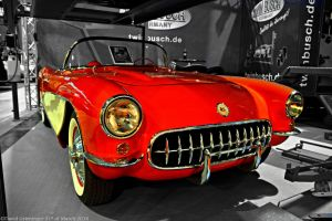 Corvette C1 Convertible 1956 by DavidGrieninger