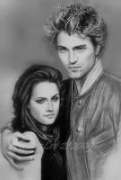 K Stewart and R Pattinson by CezLeo
