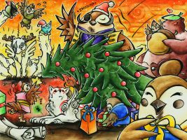 Sparrow-Christmas - Okami by Merinid-DE