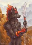 Flamecrest Sentry by Shadow-Wolf