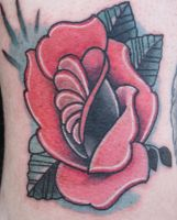 Another rose tattoo. by EricTatt