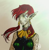 Eima Dalish Elf by noturmary