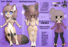 Violet - Reference Sheet by fluffyscarf