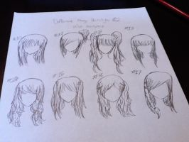 Girl Manga Hairstyles by KawaiiStarKirby