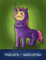 U is for Unicorn by Pauliinita