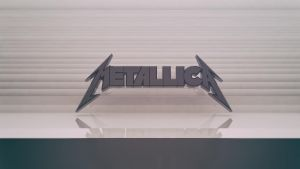Metallica Logo Wallpaper by Binary-Map