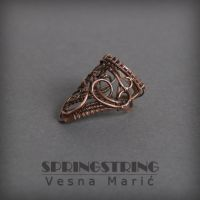 Wire wrapped copper ring by VesnaMaric