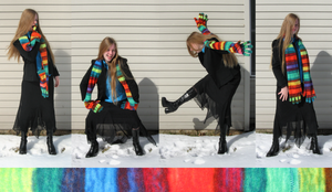 Rainbow Glove Scarf of Awesome by clearkid