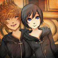 Roxas and Xion:..:Happy Days by Miranduless