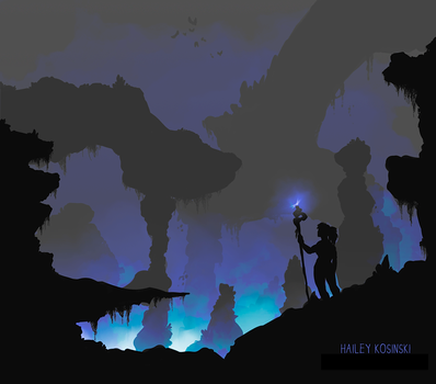 Entering the Caverns by Bluefox13