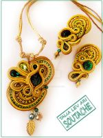 Soutache set earrings and p by caricatalia