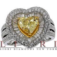 Fancy Yellow Heart Shape Ring by lioridiamonds