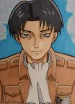 Rivaille ACEO card by LadyNin-Chan