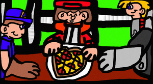 Eating At Pizza Time by EpCoreTheAlmighty