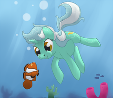 Day 21 - Lyra Swimming by Tenchi-Outsuno