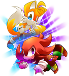 Tails and Knuckles by maramalsaied