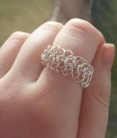 European 6 in 1 Chainmaille Ring by DruidOfTheValeDesign