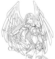Guardian Angel - Line art by Maga-Link