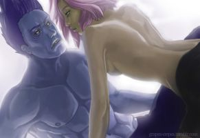 Pinned - Kisame and Sakura by grapes-crepes