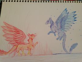 Fire and ice by ToffyNaNa