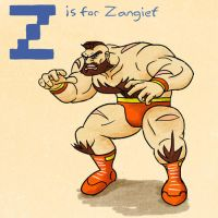 Z is for Zangief by KeithAErickson