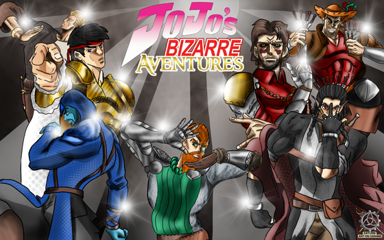 Jojo's bizarre Aventures by S4turn-Art-on-Gaming