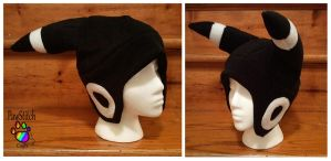 White Umbreon Hat by CalicoSarah