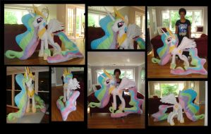 Giant Princess Celestia Plush (48 in) Finished! by PantherPawCreations
