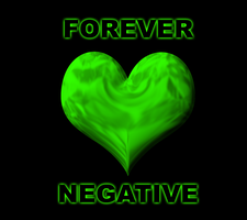 Forever Negative Green Heart by MrAngryDog