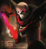 Underfell - Papyrus by Zinrius