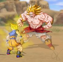 Goku Vs Broly by alleckx